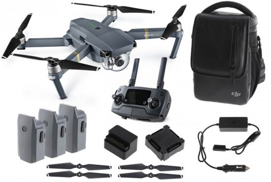 DJI MAVIC PRO Fly More Combo robotas dronas