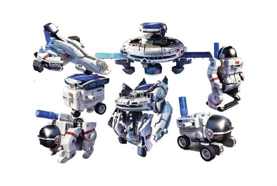 7 in 1 Solar Space Fleet - robotas konstruktorius